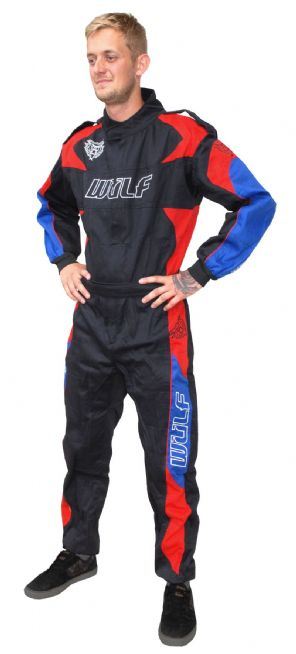 PROBAN FIRE RETARDENT SUIT RED/BLUE